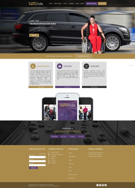 ride share service web design