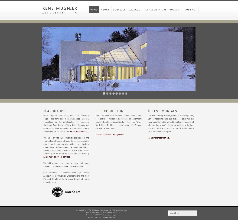 Web Design Rene Mugnier Engineering Firm Danielle Hobeika Web Design Graphic Design And Photography