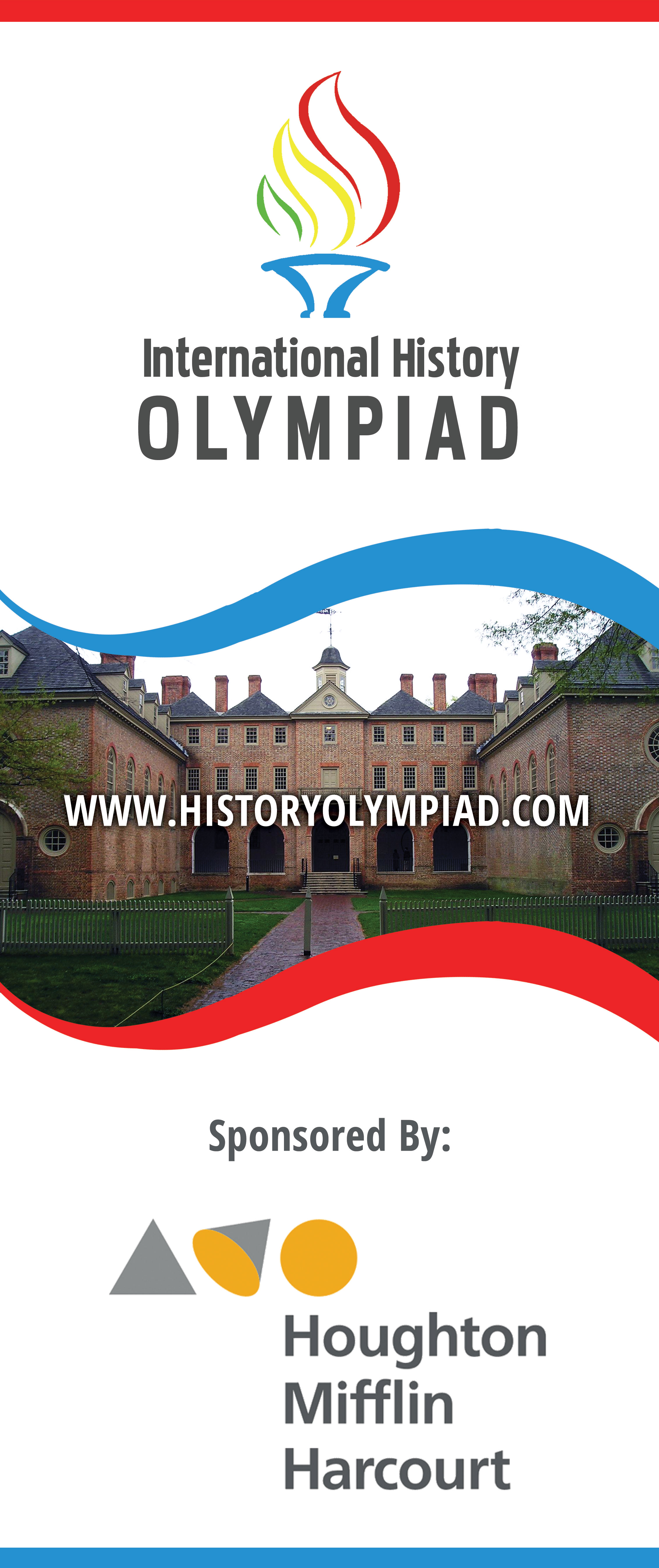 Print Design  Banner For The International History Olympiad