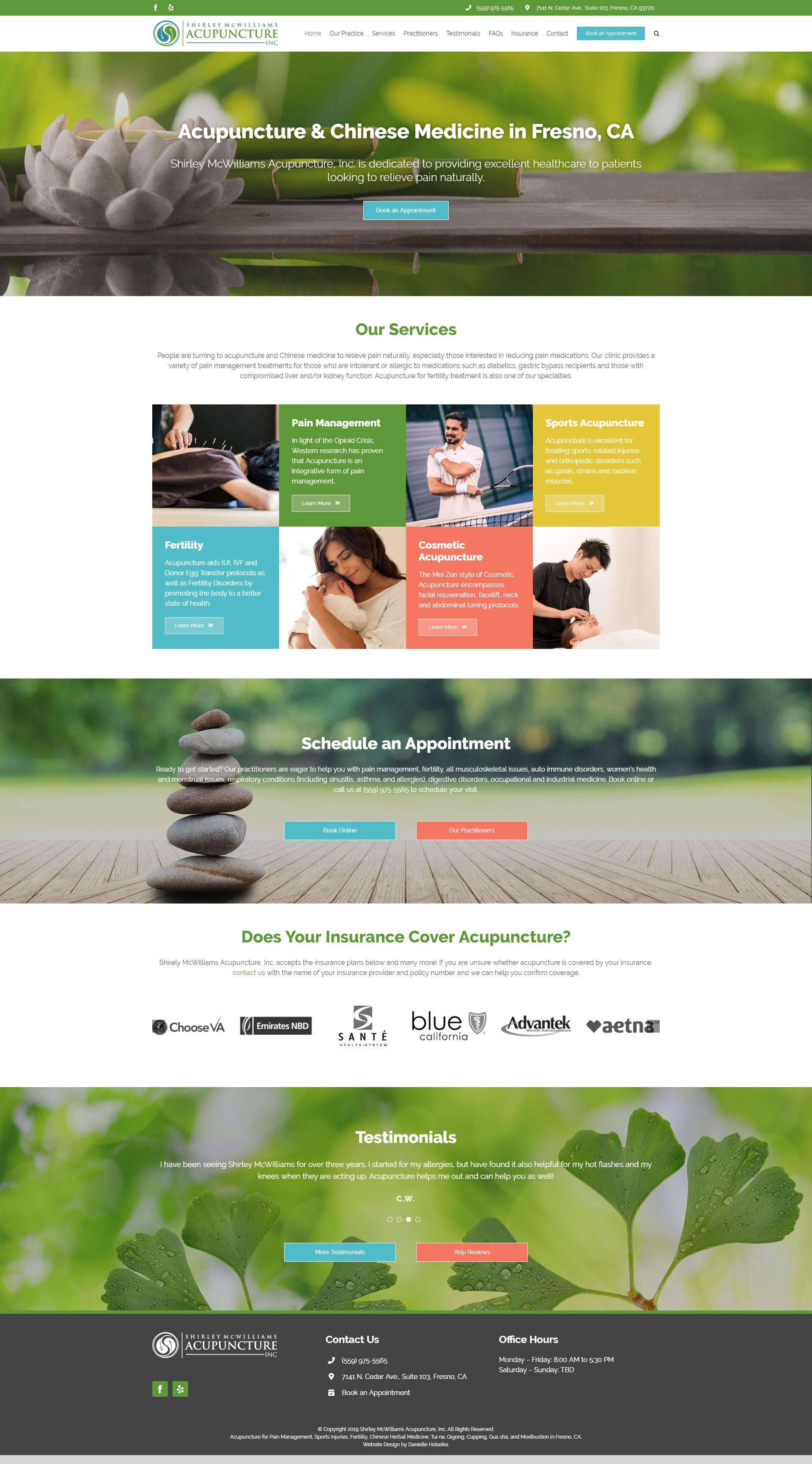 Web Design: Shirley McWilliams Acupuncture | Danielle